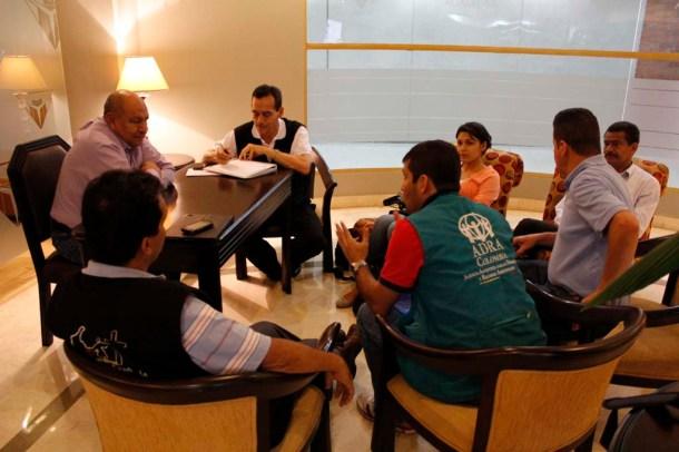 Reunión de coordinadores con el pastor Bullón, fue hoy antes del medio día