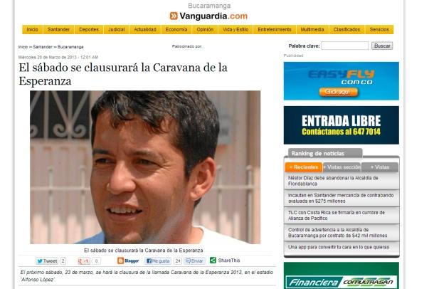 Vanguardia - Caravana Bucaramanga