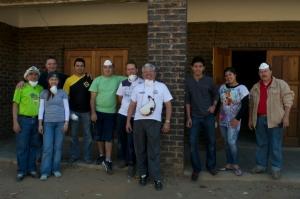 La primera semana en Sudáfrica fue dedicada a trabajos de servicio social