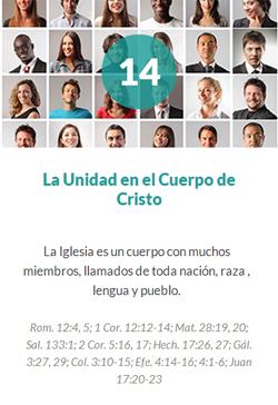 14 La unidad en el cuerpo de Cristo