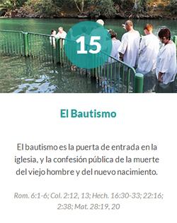 15 El bautismo