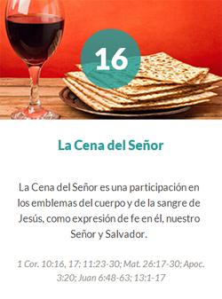 16 La cena del Señor