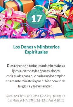 17 Los dones y ministerios esprituales