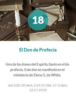18 El don de profecia