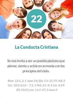 22 La conducta cristiana