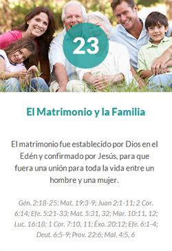 23 El matrimonio y la familia