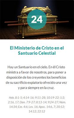 24 El ministerio de Cristo en el santuario Celestial