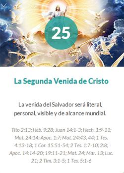 25 La segunda venida de Cristo