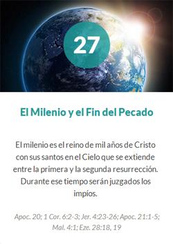 27 El milenio y el fin del pecado