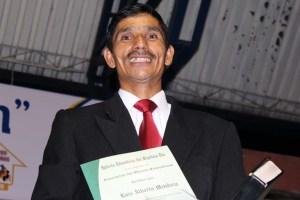 Alberto Mendoza, fue el laico campeón del área metropolitana, con 35 bautismos alcanzados