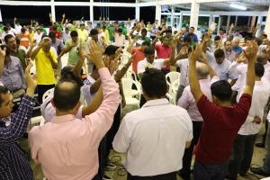 Durante el pastoree también hubo momentos dedicados especialmente a la oración