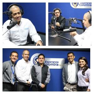 La caravana de comunicación visitó también la ciudad de Medellín, el pastor Gavilanes y el profesor Abel Márquez visitaron los estudios de Esperanza Colombia Radio y TV