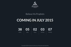 """Una captura de pantalla de la página principal de """"Creed a sus profetas"""", un sitio web dedicado al nuevo plan de lectura de la Biblia, que comenzará en julio de 2015"""