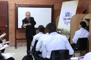 El 9 de febrero los OYIMERS  participaron en una clase ministrada por el pastor Mario NIño, director asociado de Mayordomía en la Asociación General