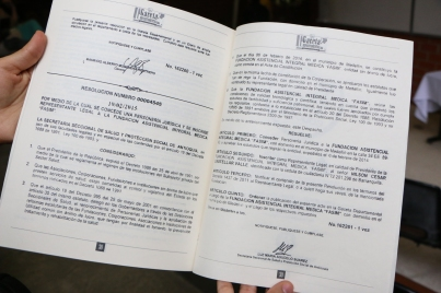Gaceta Departamental que contiene el decreto por el cual se reconoce oficialmente a la Fundación