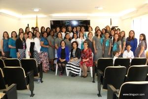 Esposas de pastores de la UCN y de los campos locales de la Iglesia Adventista en Medellín, el pasado 28 de marzo en un encuentro con la líder de SIEMA-Interamérica, Leticia de los Santos