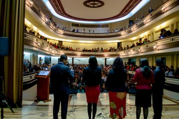El concierto musical en el Teatro Sogamoso, contó con la participación de 400 personas el sábado 13 de junio