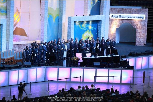 Hoy fue un día de importantes anuncios en la 60ª Asamblea Mundial de la Iglesia Adventista [Foto: Leonidas Guedes]
