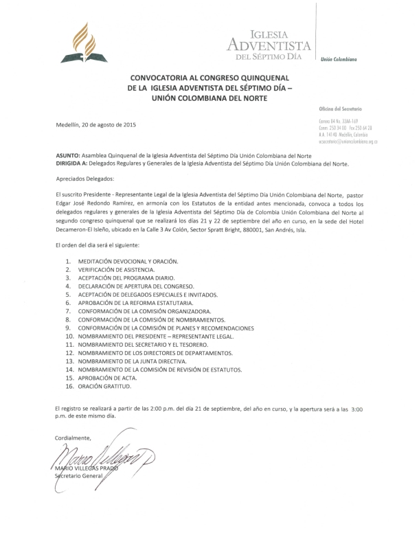 Documento Congreso Quinquenal