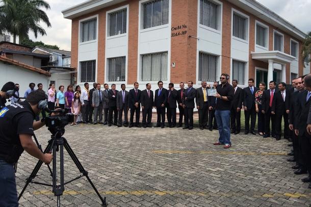 Líderes adventistas participaron en grabación de Video-Informe del primer quinquenio de la Unión Colombiana del Norte