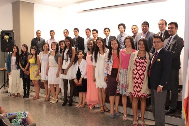 Ellos son los miembros activos, de la Iglesia Adventista Universitaria de la UdeA, que el sábado 8 de agosto fue inaugurada en Medellín