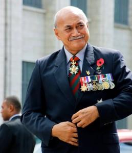Konrote, de 67 años, fue subiendo en los rangos de las Fuerzas Armadas de Fiyi para llegar a ser el único fiyiano designado como comandante de fuerza de las Naciones Unidas en la década de 1970. (Gobierno de Fiyi)