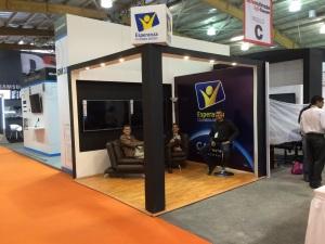 El stand de Esperanza Colombia Medios en Tecno Televisión & Radio 2015