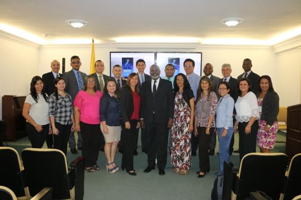 Secretarios y asistentes de los campos locales de la UCN participan en concilio el pasado 23 de febrero , en Medellín