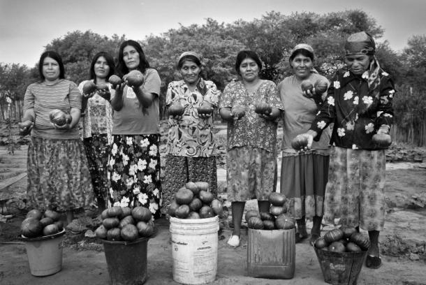 Una de las fotografías publicadas por la cadena Univisión del proyecto Wichí, operado por ADRA Argentina.