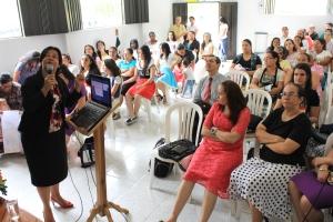 Mujeres de Ciudad Bolívar asisten a programa organizado por el Ministerio de la Mujer adventista el sábado 14 de mayo [Imagen: Alessandro Simoes]