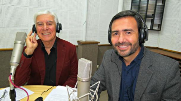 El Lic. Rodrigo Arias será el nuevo orador del programa radial y televisivo que cumple 52 años al aire. De Izq. a Der.: José Plescia y Rodrigo Arias