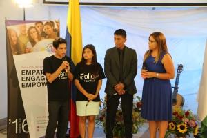 Durante el programa realizado en uno de los auditorios de la Universidad de Antioquia, los universitarios hablaron de sus desafíos y también su compromiso de convertirse en misioneros en su campus