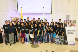 Representación de los universitarios adventistas que en Colombia participaron en el #GPCMW16 [Foto: Camilo Rodríguez]