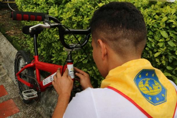 Las bicicletas que serán entregadas a partir de hoy en La Guajira, fueron todas reparadas, pintadas e identificadas con el nombre del proyecto 'Ruedas para Educar'