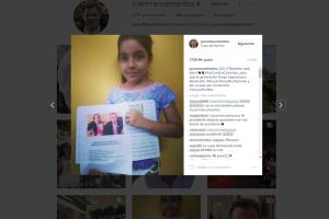 Felicitación Presidente Santos - Gabriela