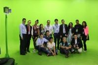 Grupo que participó en taller en Medellín conoce las instalaciones de Esperanza Colombia Medios
